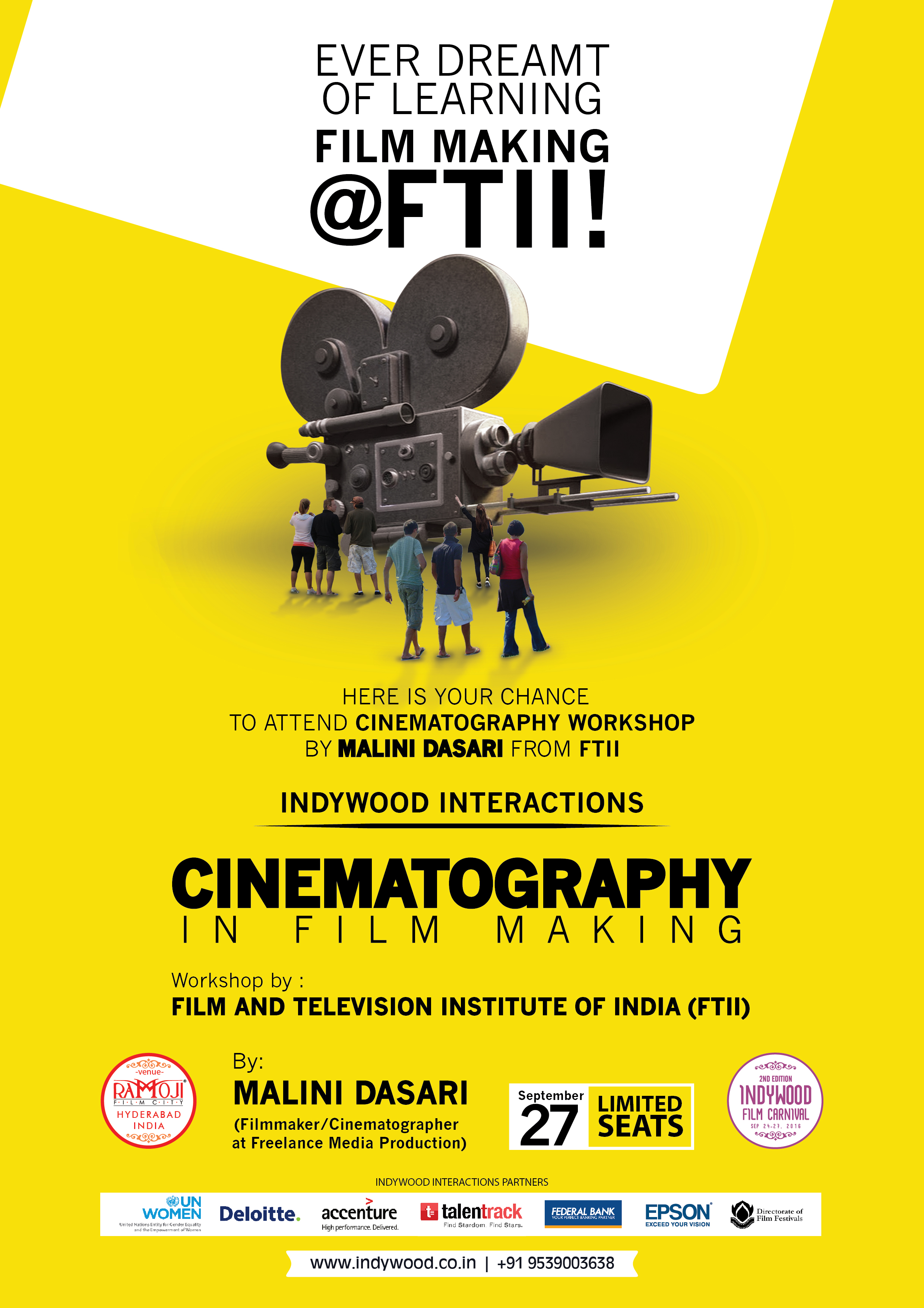 Indywood film carnival hyderabad from 24th to 27th sep 2016