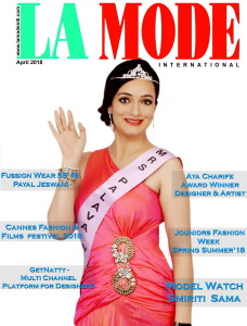 Samiriti Singh Beauty Pageant winner on cover of La Mode International